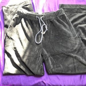 📌Keren Hart black Panné Velvet Lounge Sweat Pants